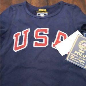 Beautiful polo USA T-shirt size 3T girls, New